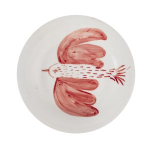 Giovanna Lopalco - Red bird plate - Photo © Andrea Rodríguez